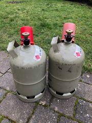 2 leere Propangasflaschen Tauschflaschen