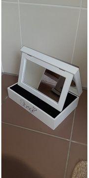 Schminkspiegel Schmuckbox mit Foto-Platzhalter