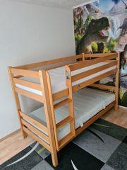 Verkaufen ein gut erhaltenes Massivholz-Etagenbett