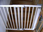 Treppenschutzgitter Türgitter Geuther Holz weiß