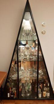 Glasvitrine mit Beleuchtung Vitrinenschrank schwarz