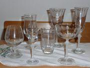 Kristallgläser-Serie Sektschalen Wein Cognac Likör