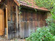 Schöner Garten mit Hütte Grillstelle