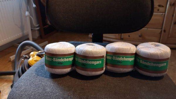 Bändchengarn Glanzweiss