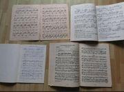 Alte Klaviernoten Notenkonvolut 10 Noten