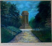 Viersen Bismarckturm NRW altes Gemälde