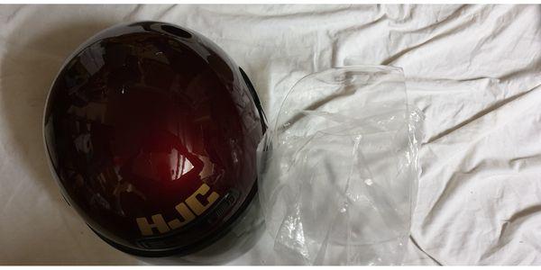 Weinroter Motorrad Helm Top erhalten