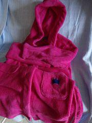 Kinderbademantel 134 140 pink