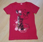 Mädchen Kurzarm T-Shirt Giraffe Kinder
