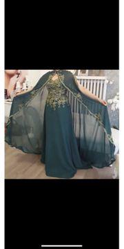 Abendkleid königlich Kleid mit Umhang
