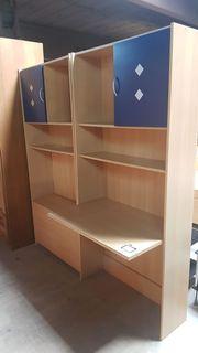 Schreibtisch Schrank 2 teilig für