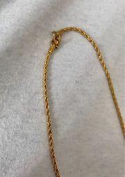 Edelstahlkette I Gold I Twisted