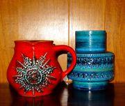 Farbenfrohes Keramik Vintage Fat Lava