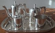 Kaffee- Teeset v Oneida versilbert