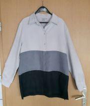 Bluse dreifarbig grau Gr 40