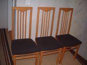 3 Stühle aus Buchenholz