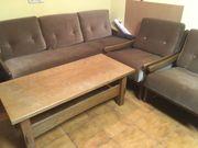 Ältere stabile Sofa Garnitur zu