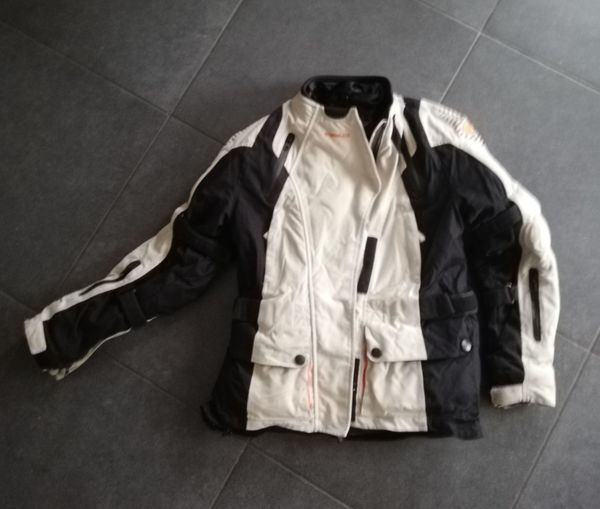 Motorradjacke Damen Held Tamira grau-orange -
