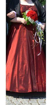 Hochzeitskleid Abendkleid weinrot