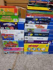 Kinderspiele- Puzzle- und Kinderbuch-Sammlung