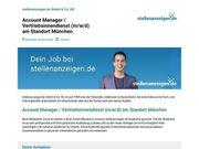 Account Manager Vertriebsinnendienst m w