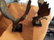 Adler Skulptur Paar Messing Antiquität