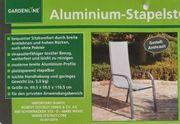 Aluminium Gartenstuhl Stapelstuhl 2 Stück