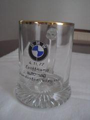 Glasbecher BMW zur Eröffnung AUTOMAG