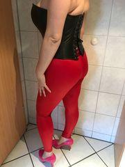 Leggings sexy Leggings getragen rot