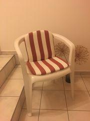 6 Gartenstühle mit Auflagen