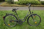 Damen-Fahrrad Trekkingrad blau 26 Zoll