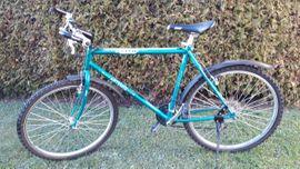 Single-Speed-Fahrrad Durchstiegsrahmen blau-grau