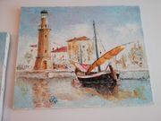2 Bilder Ölbilder Gemälde auf