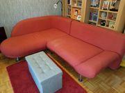 Couch Sofa Recamiere mit Ottomane