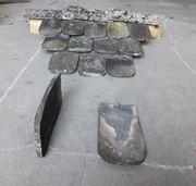 Antike Dachziegel - Biberschwanz handgestrichen