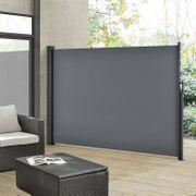 Seitenmarkise Sichtschutz 300x180 cm dunkelgrau