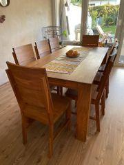 Eichenholz Esstisch mit 8 Stühlen