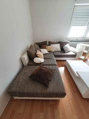 Couch Sofagarnitur in weiß mit