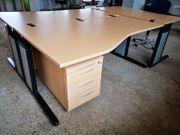 Büro-Arbeitsplatz Schreibtisch Rollcontainer König Neurath
