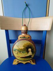 Flasche RUMÄNIEN Folklore Handarbeit Holz