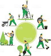 Handwerker Gartarbeiter