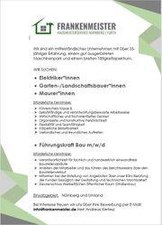 Suche Mitarbeiter Bauleitung Elektriker Galabau