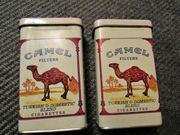 2 alte CAMEL FILTERS Zigarettenetuis