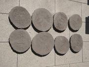 8 Trittsteine aus Beton Baumscheibe