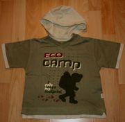 Sportliches Kapuzen-T-Shirt - Größe 98 - Kurzarm -