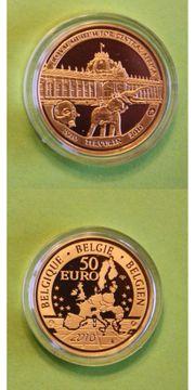 Goldmünze Belgien 50 EUR 100