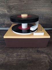 Vintage DDR Plattenspieler Single Plattenwechsler