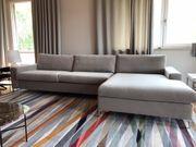 Ecksofa Eckcouch Sofa in Hellgrau