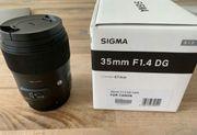Sigma Objektiv 35 mm F1
