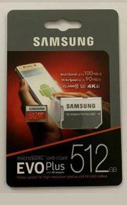 Samsung Evo plus microSdxc 512